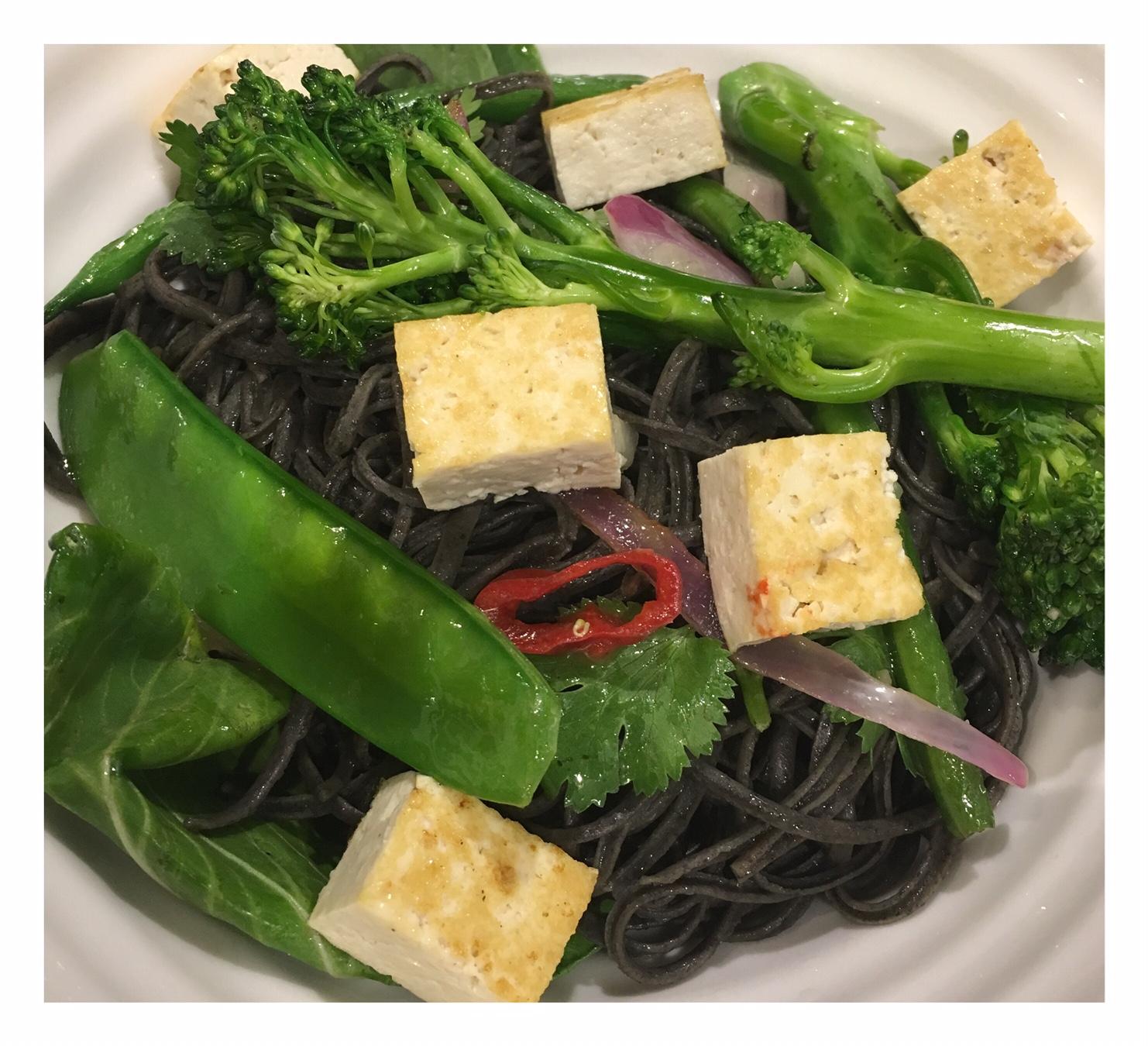 Tofu & Black Bean Noodle Stir Fry