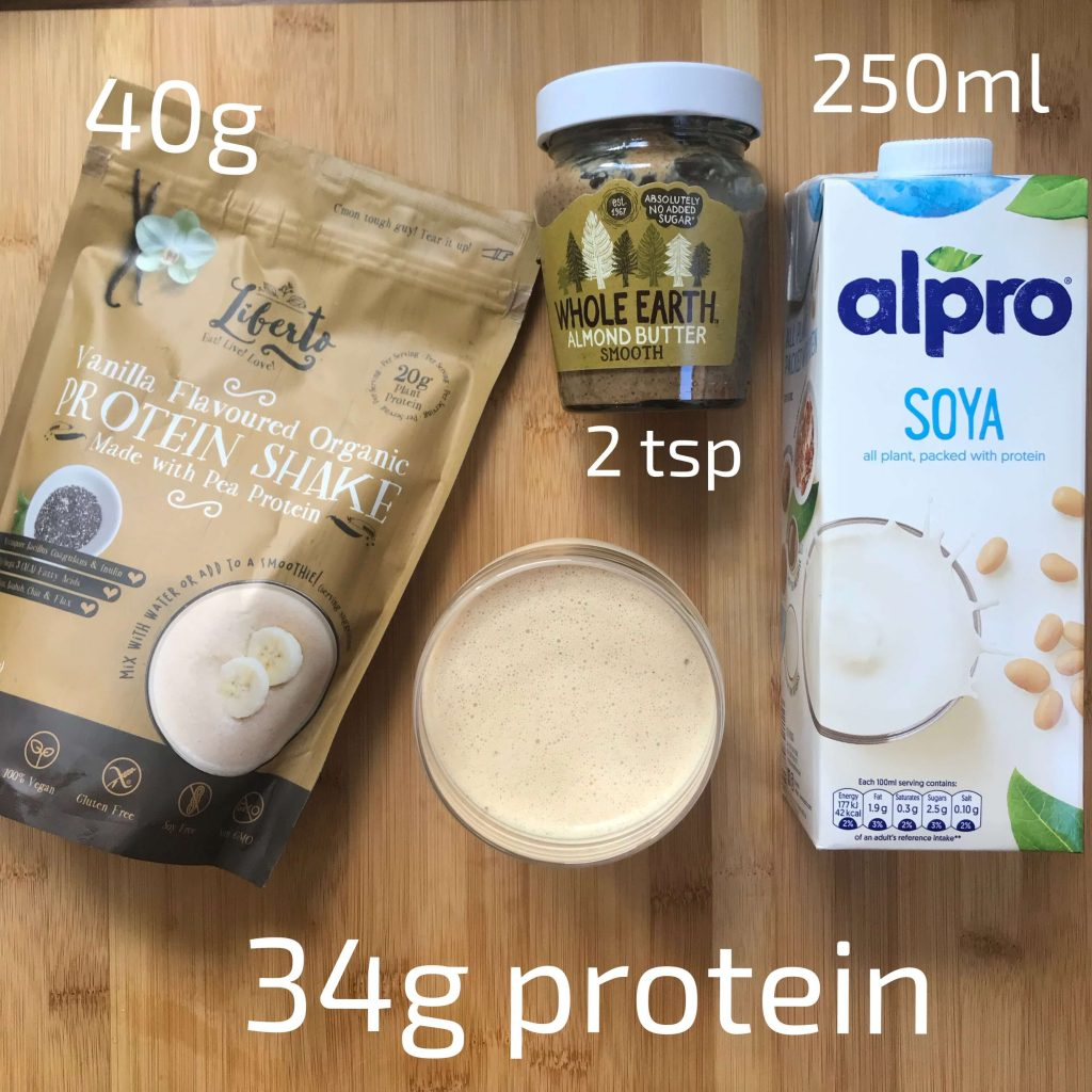 Recipe for a high protein shake